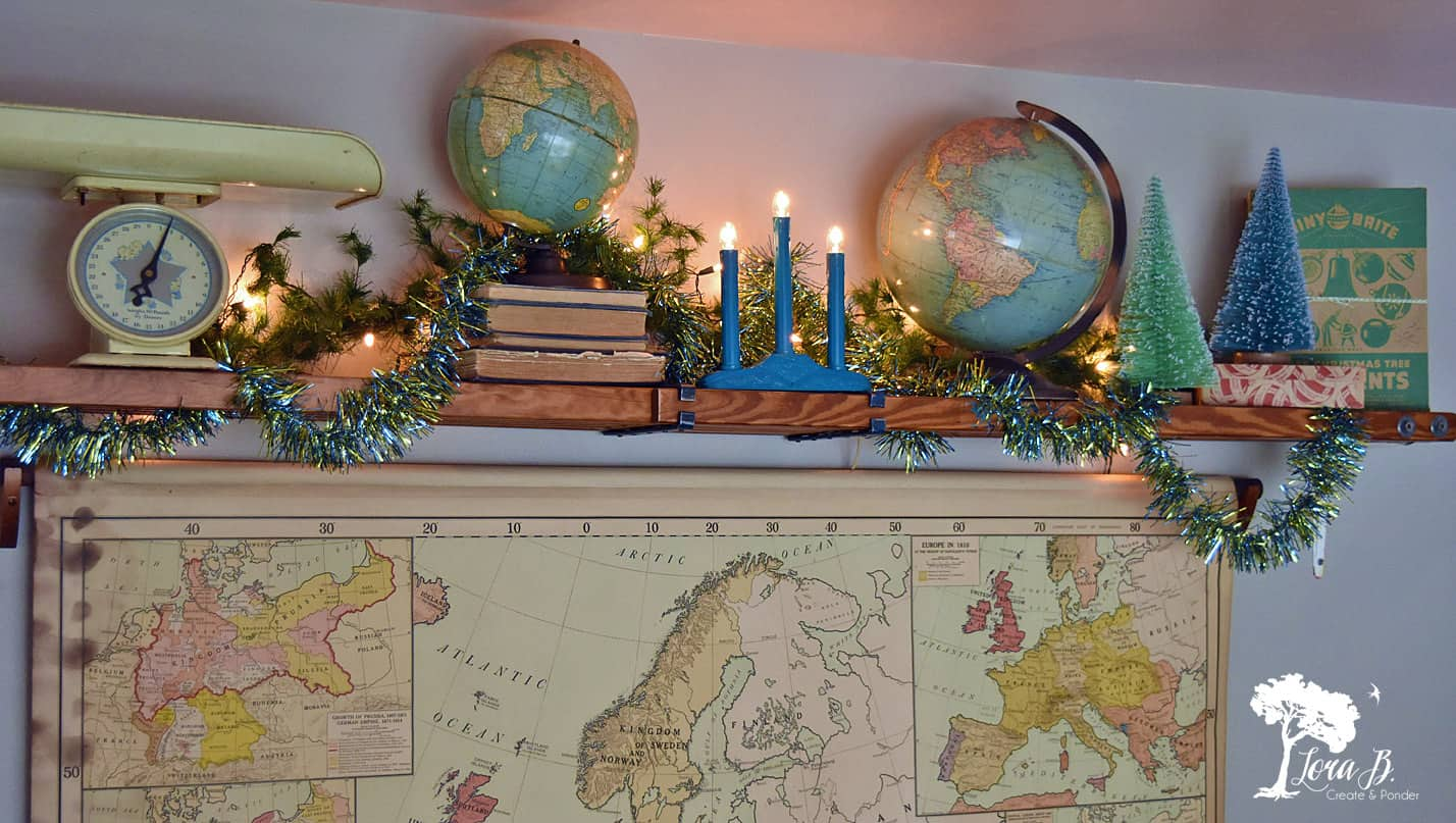 """Joy to the World"" themed Christmas Display"