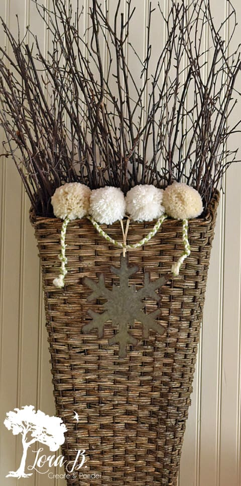 Basket of Sticks, dressed for winter.