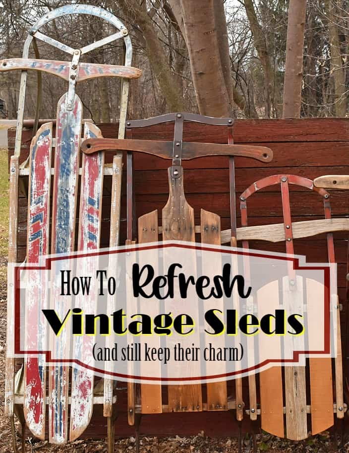 How To Refresh Vintage Sleds Pin
