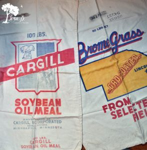 Vintage feedsacks