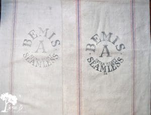 Vintage Bemis feedsacks