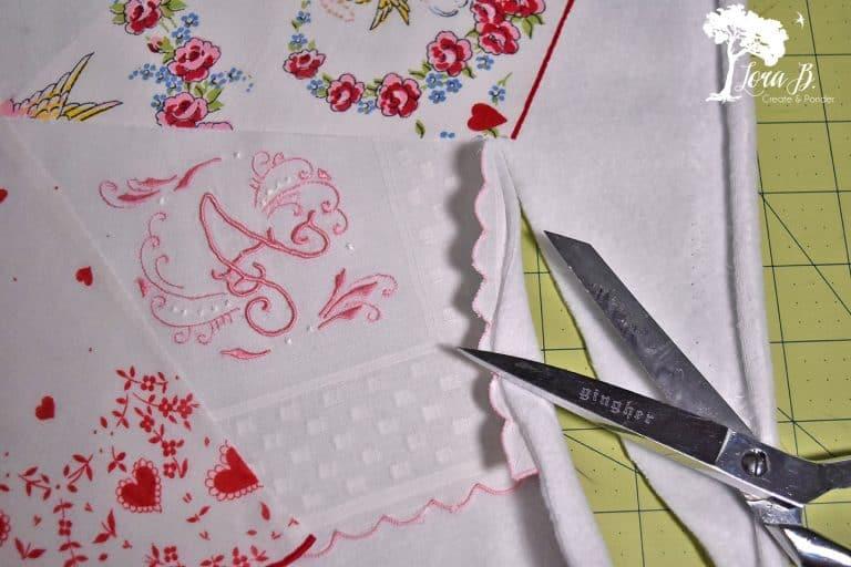 Valentine Handkerchief Charger