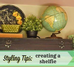 Vintage Shelf Vignette