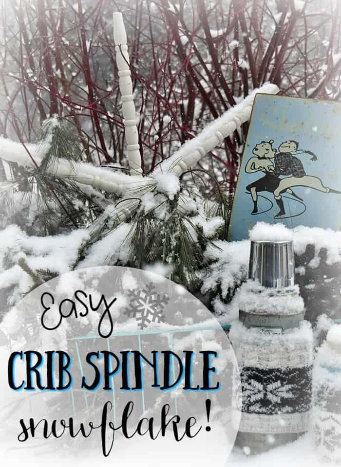 Crib Spindle Snowflake