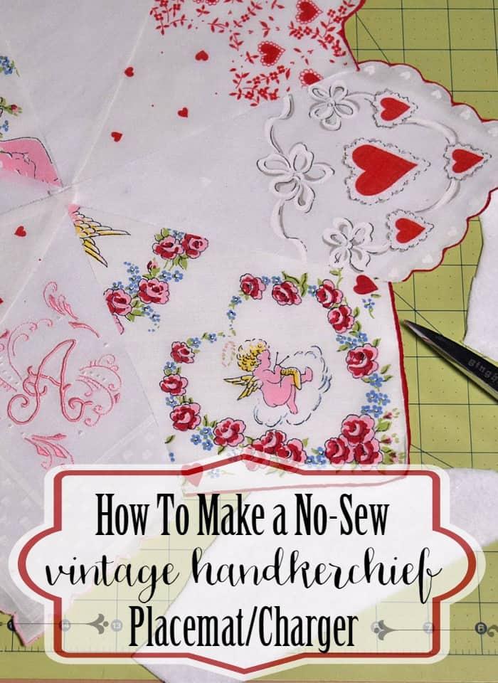Vintage Handkerchief Placemat