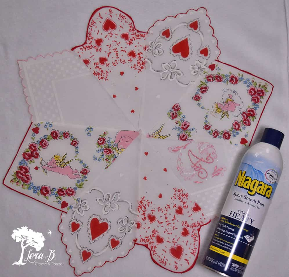 Vintage Handkerchief snowflake
