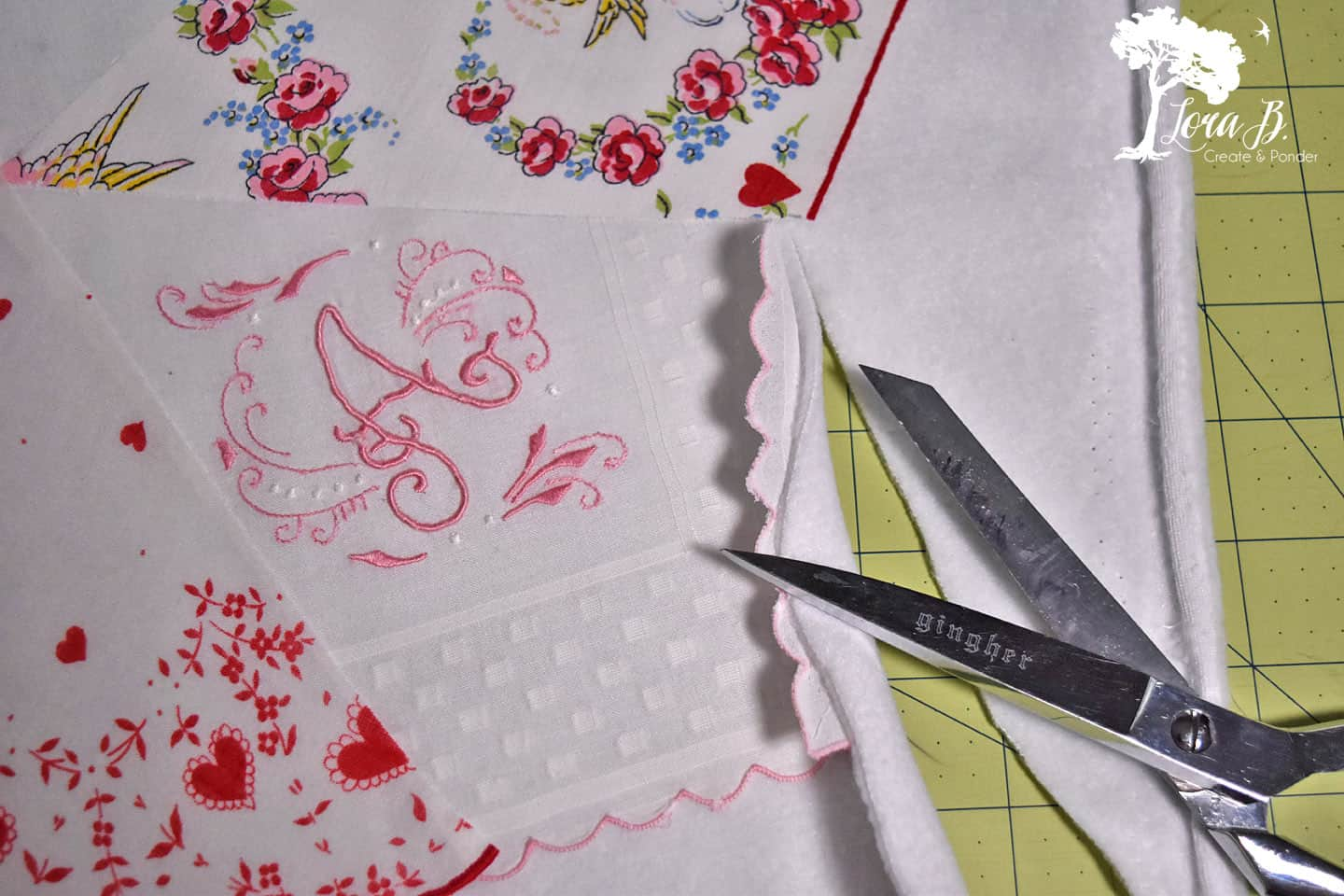 Vintage handkerchief project