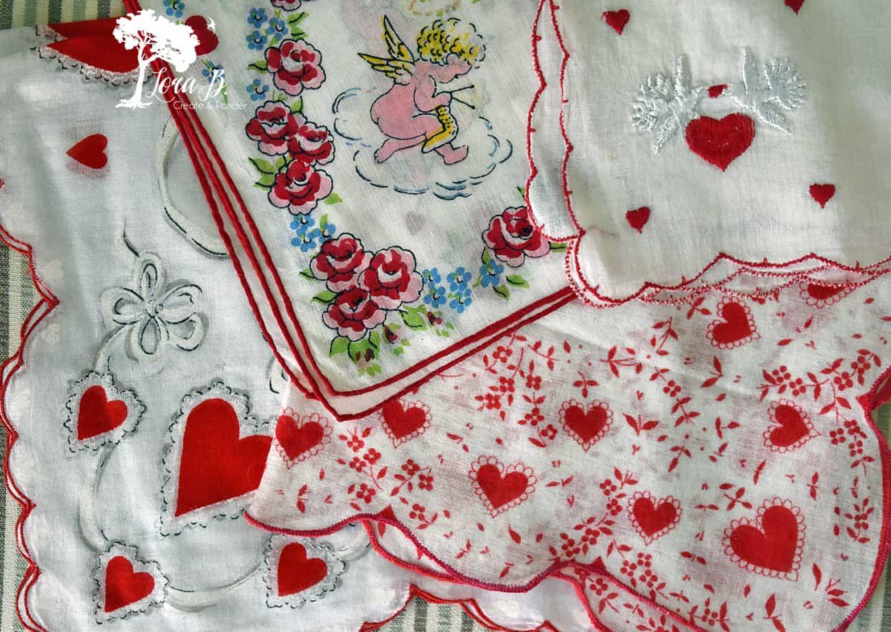 Vintage Valentine Handkerchiefs