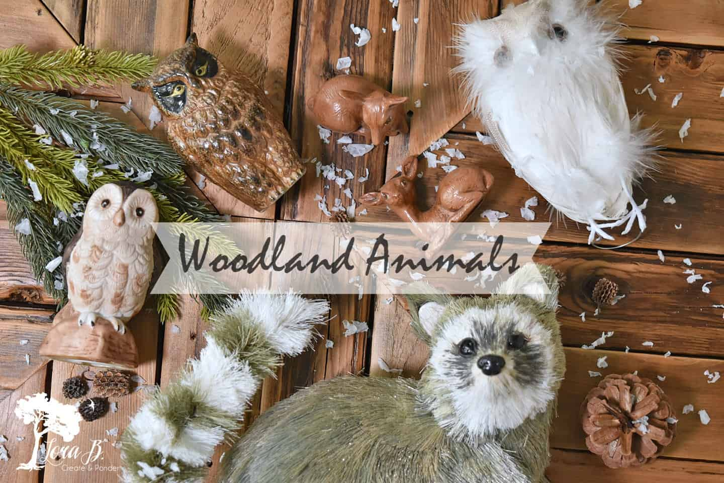 Woodland animal figures