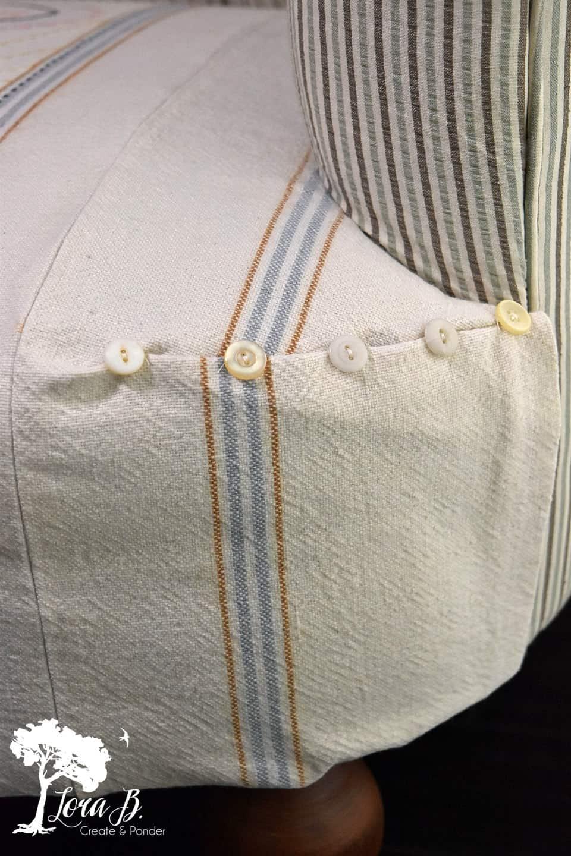 Vintage button detail