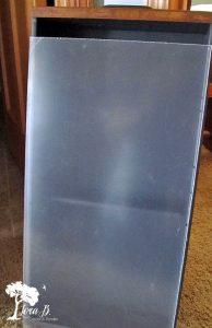 Plexiglass cover for memory box