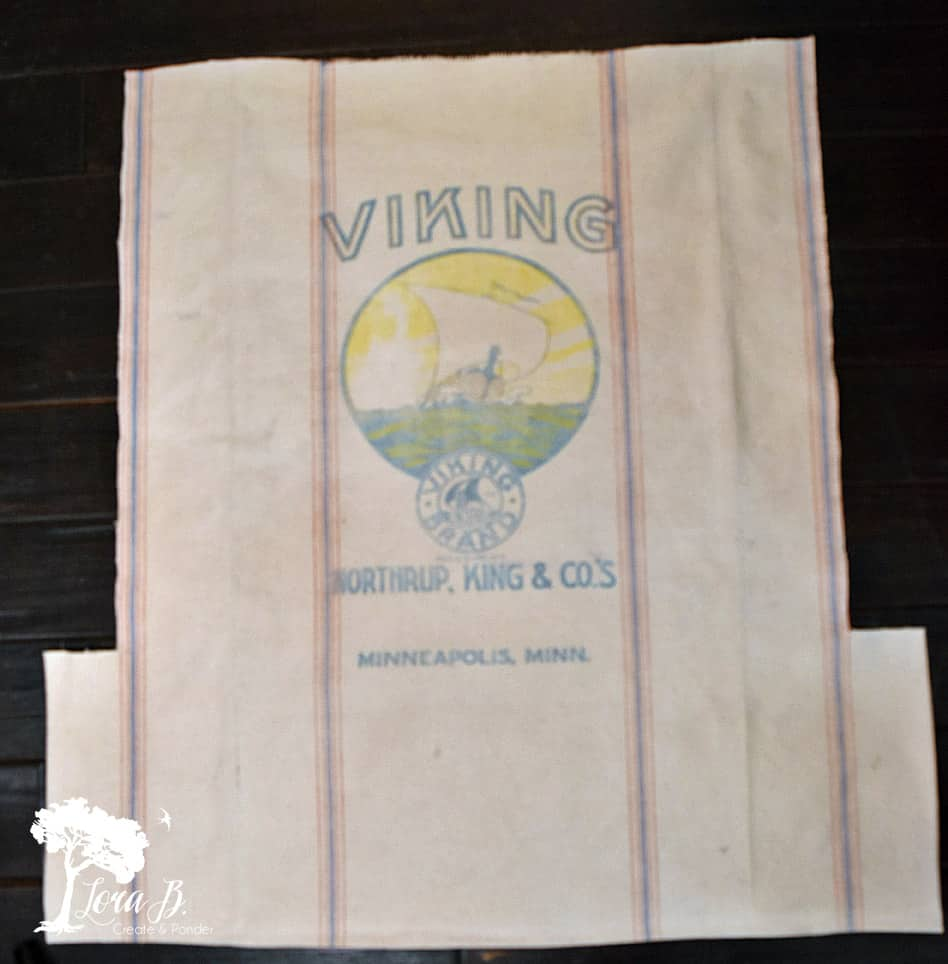 Vintage feedsack graphics