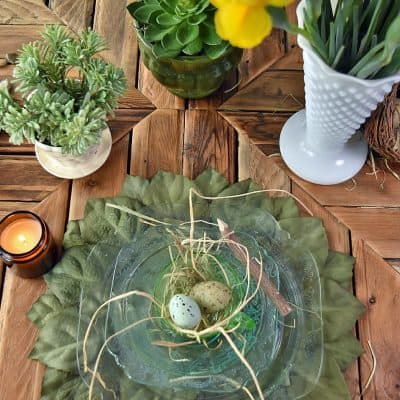 DIY Leafy Placemats