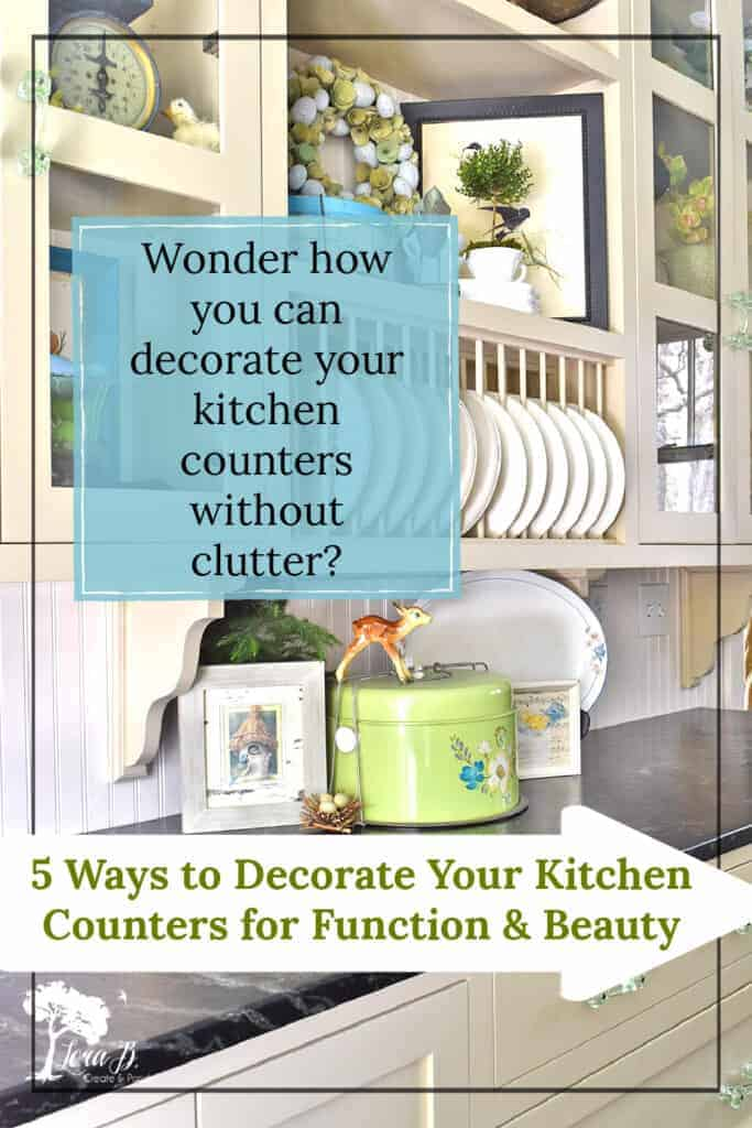 how to decorate your kitchen counters
