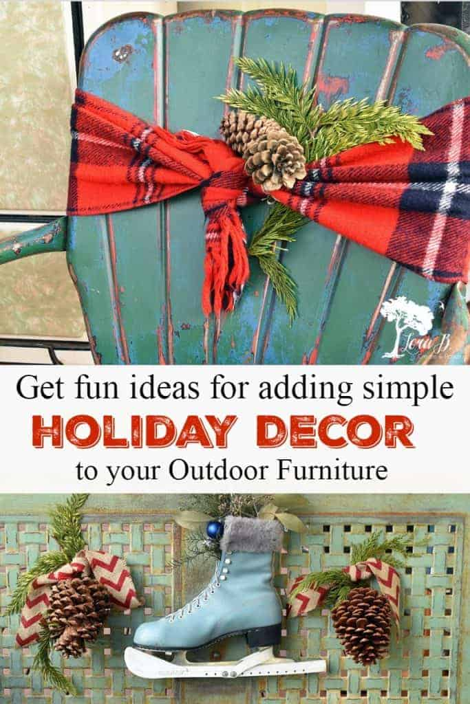 Christmas decor ideas for outdoor furniture