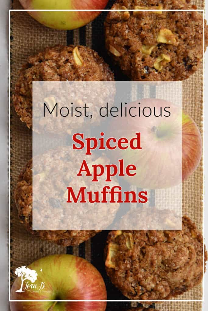 Apple muffins are a sweet treat and snack.
