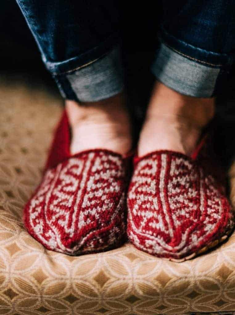 feet in slippers