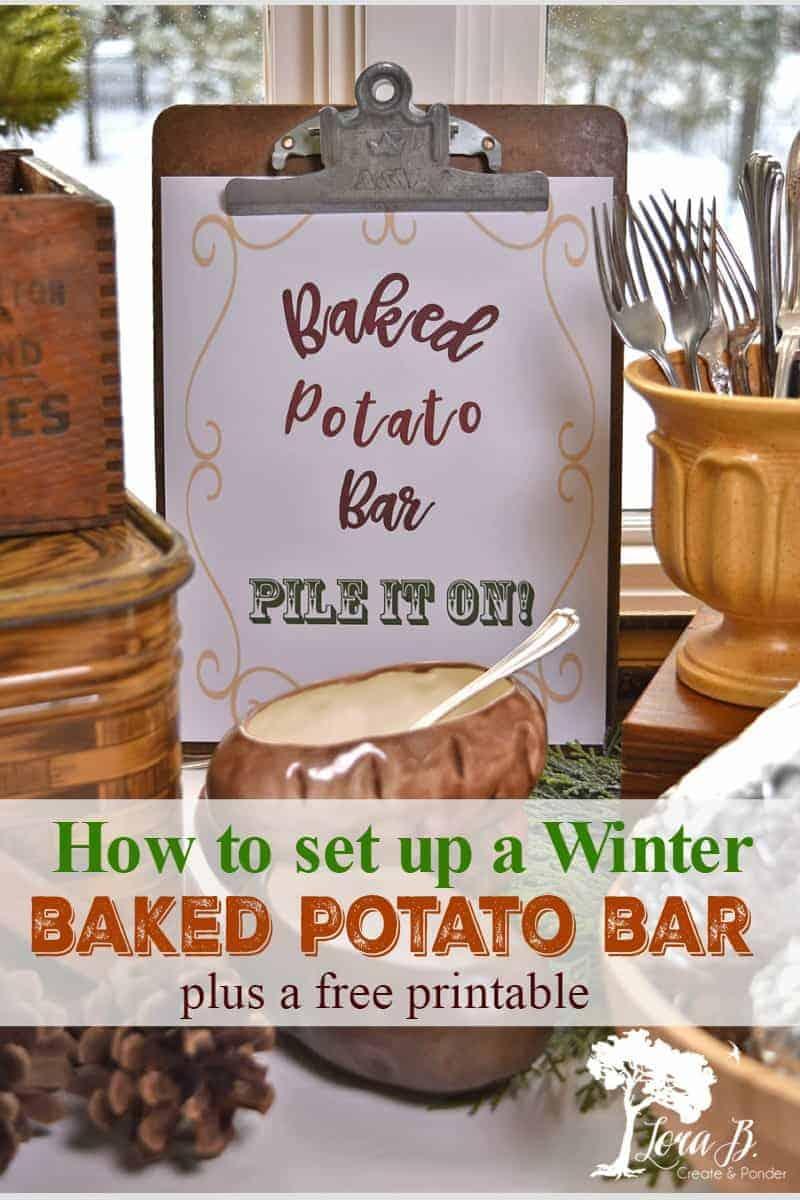 baked potato bar ideas