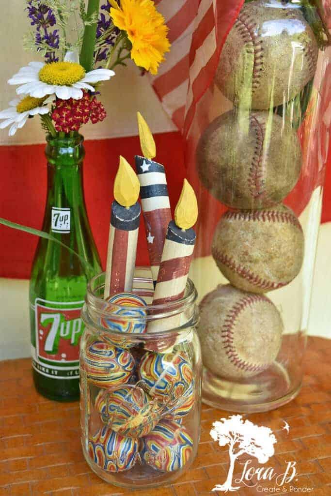 vintage repurposed junk patriotic decor ideas