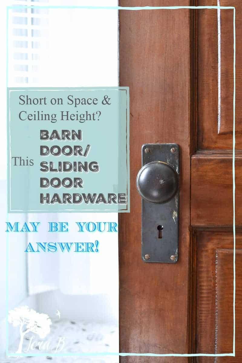Barn Door/ Sliding Door Installation with a Vintage Door and Low Ceilings