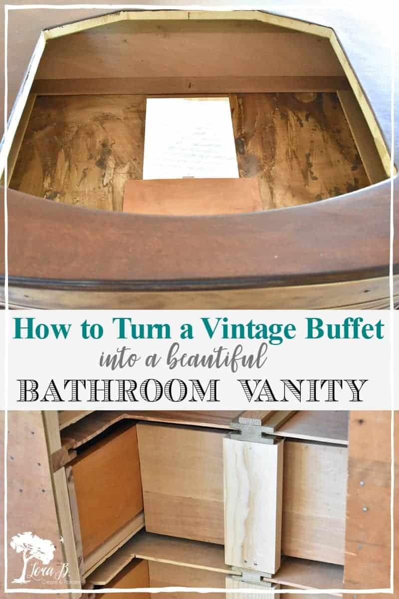 How to Repurpose a Vintage Buffet into a DIY Bathroom Vanity
