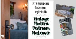 Vintage Modern Bedroom Makeover Reveal