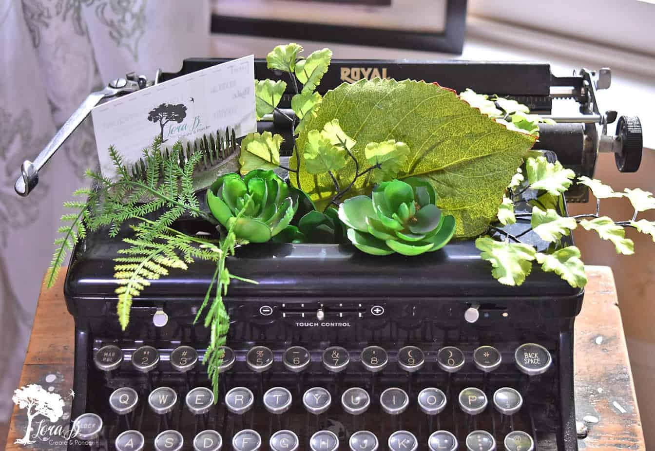vintage Royal black typewriter