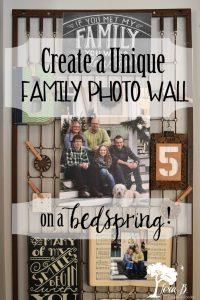 Bedspring Family Photo Wall