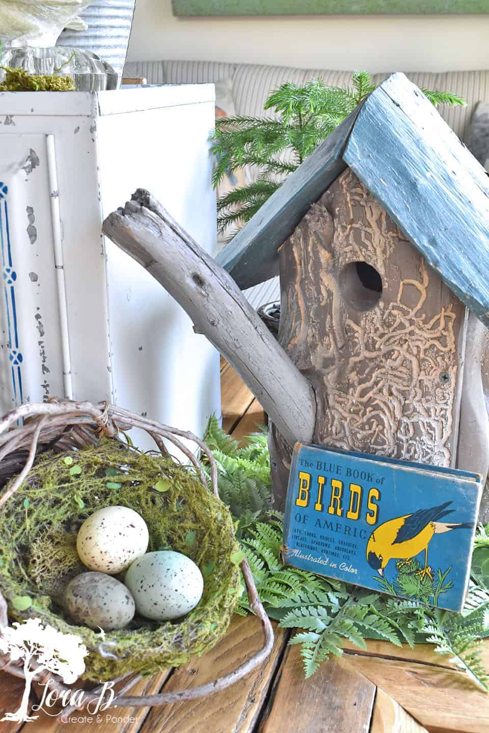 Spring Decorating with a Bird Theme