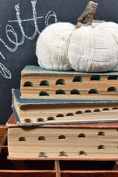 Decorating with Vintage Books: On the Hunt for Tabs