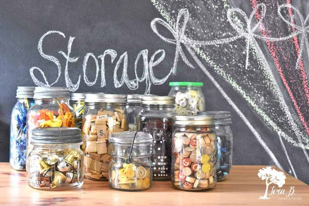 ball jar craft storage