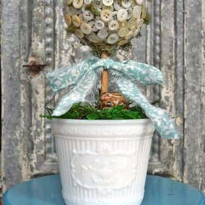 DIY Button Topiary