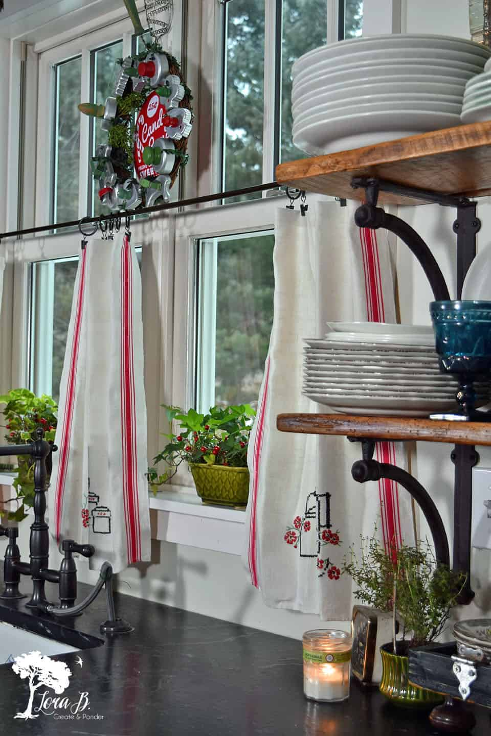Easy DIY Cafe Curtains