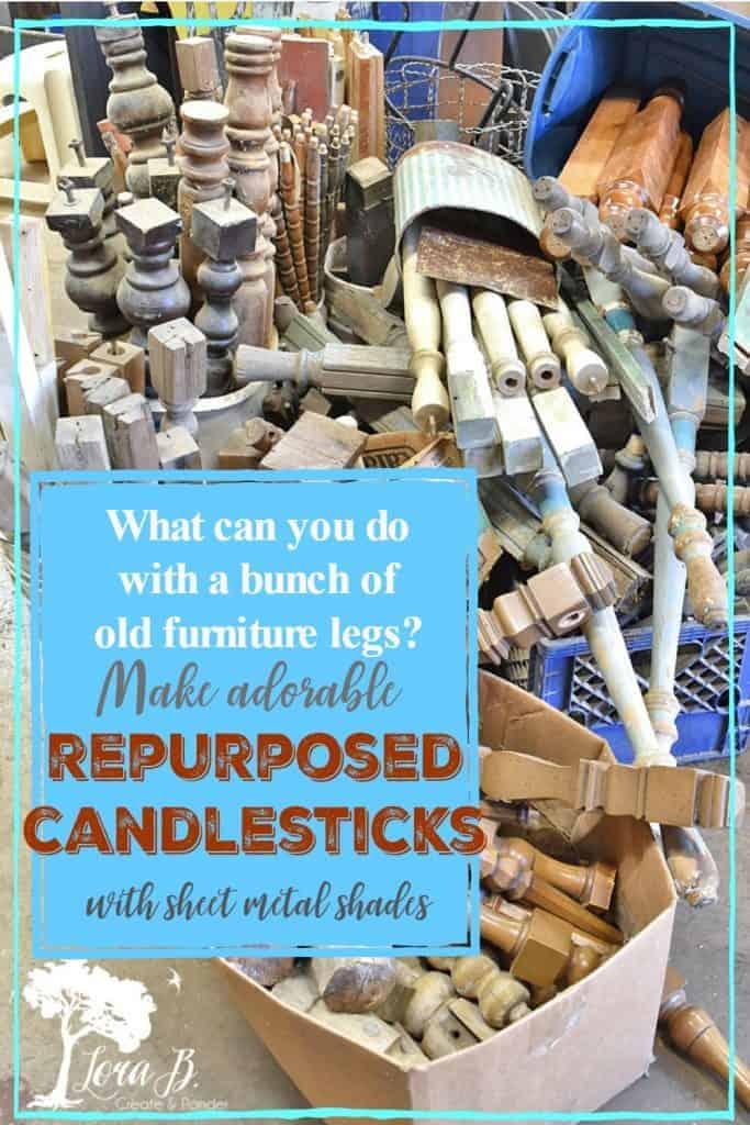 repurposing old furniture legs