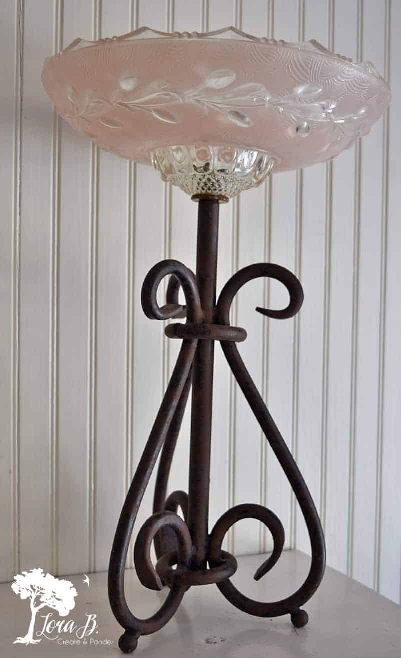 vintage glass light shade