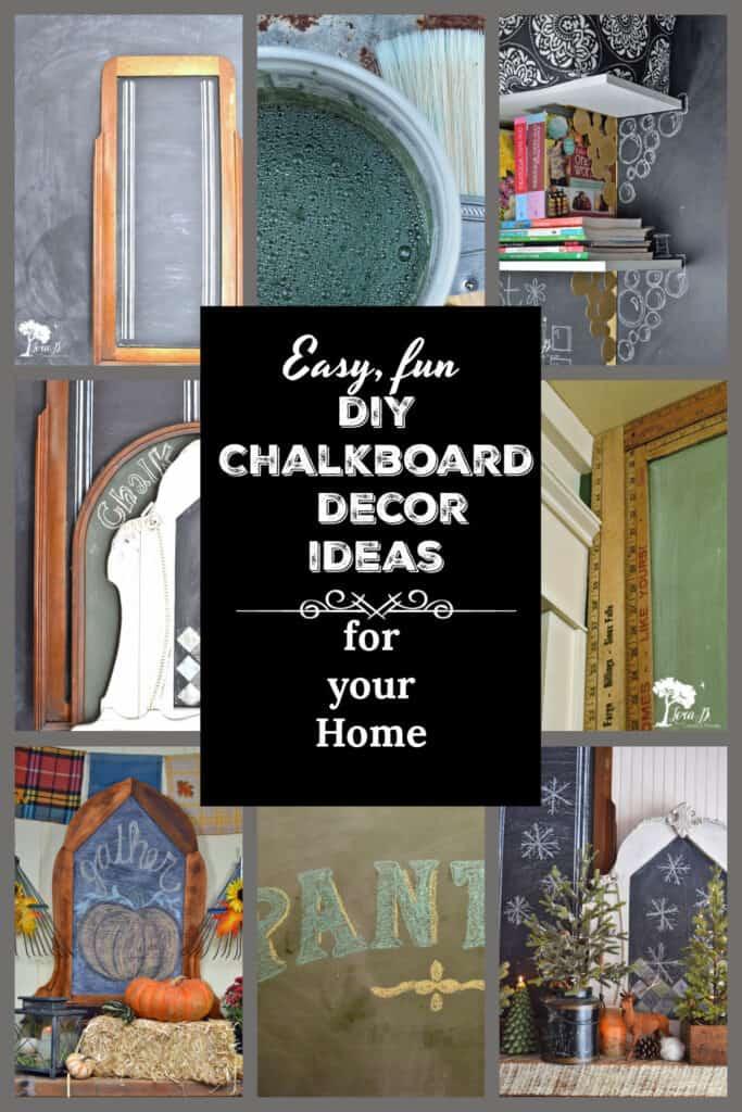 Fun Chalkboard decor ideas for your home.