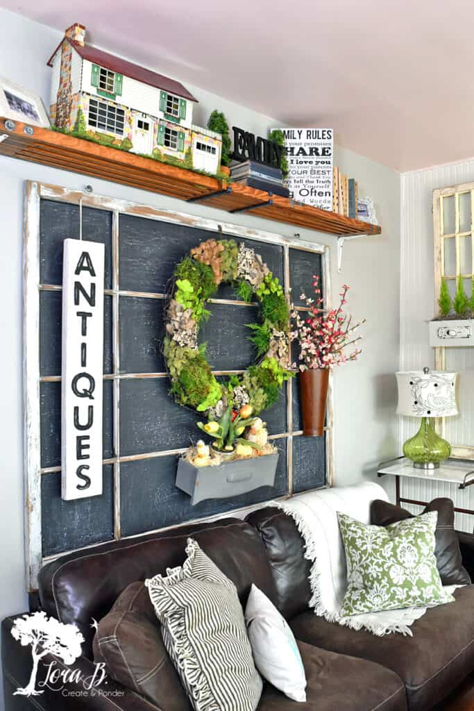 Window display for fun chalkboard decor ideas for your home.