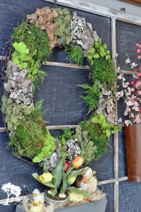 Mixed Moss Grapevine Wreath Spring Display