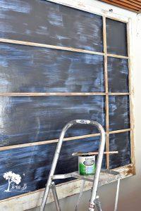 Old Window Chalkboard Spring Display