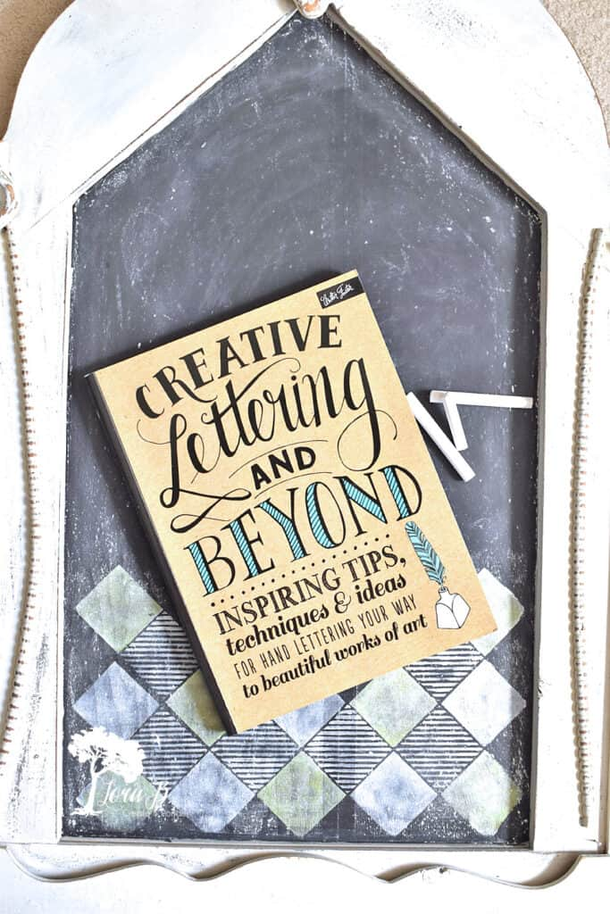 Get a lettering book to improve your chalkboard home decor skills.