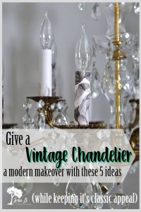 5 Ways to Update a Vintage Chandelier