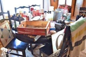 vintage cabin decorating process