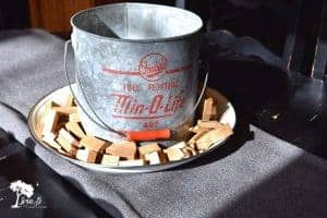 vinage minnow bucket centerpiece