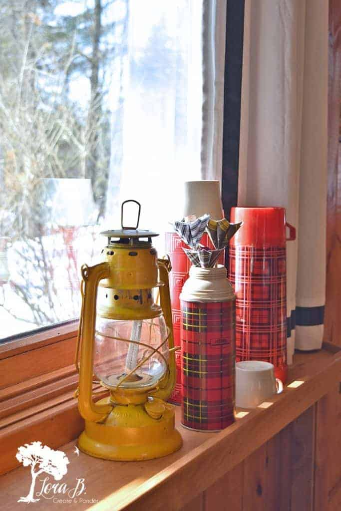 vintage thermos decor