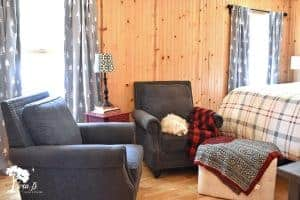 Northwoods cabin bedroom decor