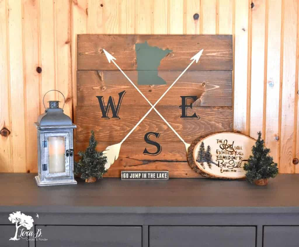 MN cabin decor sign