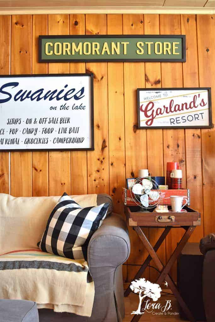 vintage cabin decor custom signs