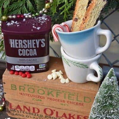 Create a Vintage Farmhouse-Style Christmas Hot Chocolate Bar