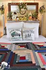 Christmas bedroom decorating ideas, vintage style