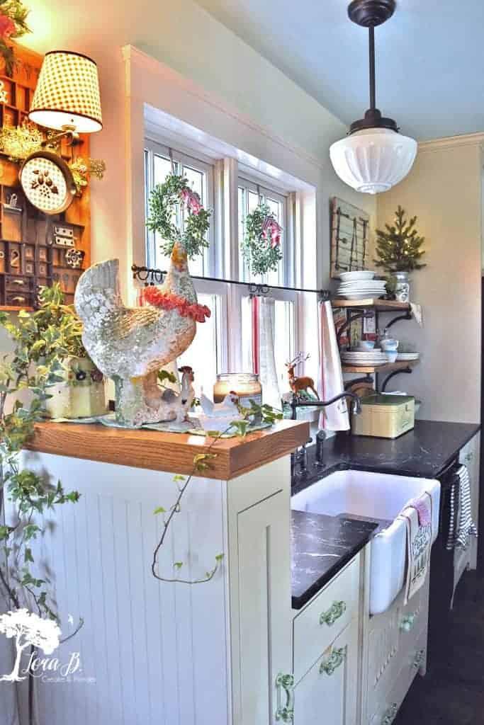 vintage decorated kitchen tour